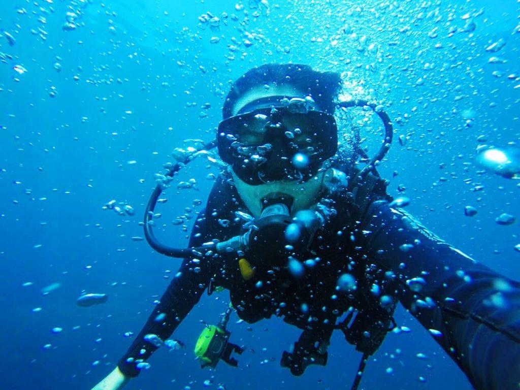 潜水对洋流