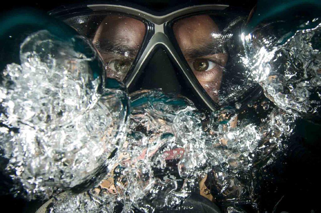 diving tips mask