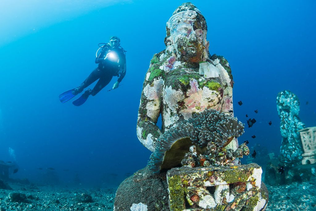 how to overcome fear diving bali