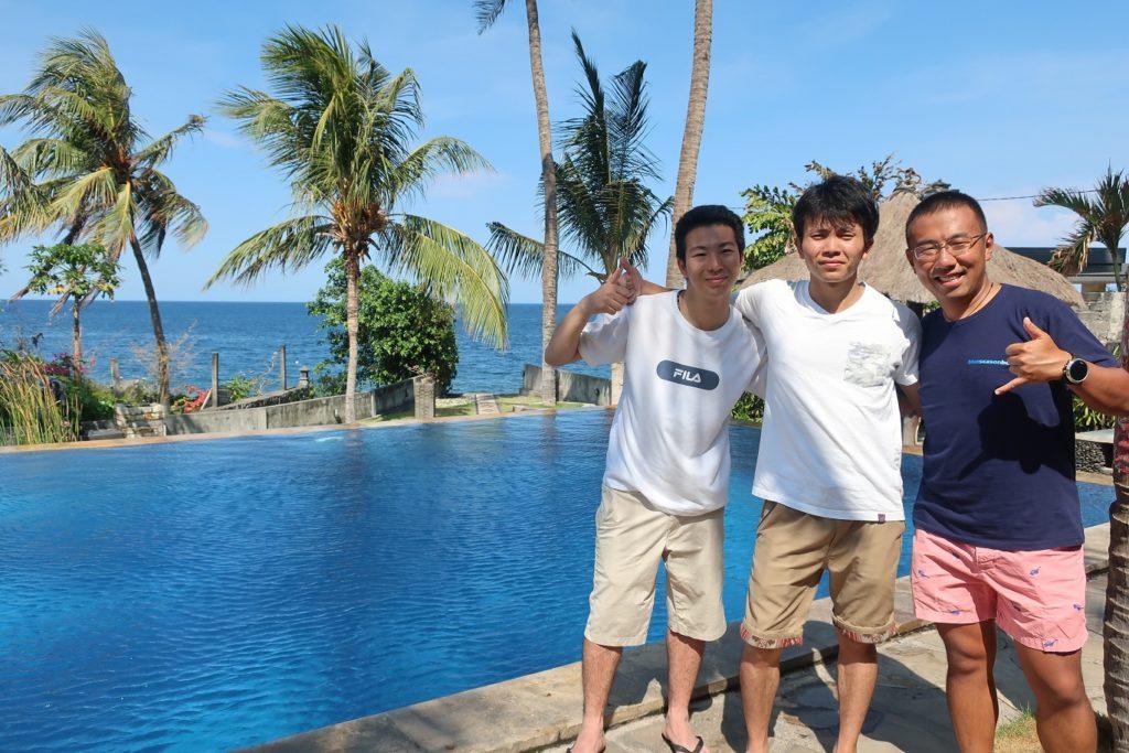 After shot Bali Ocean
