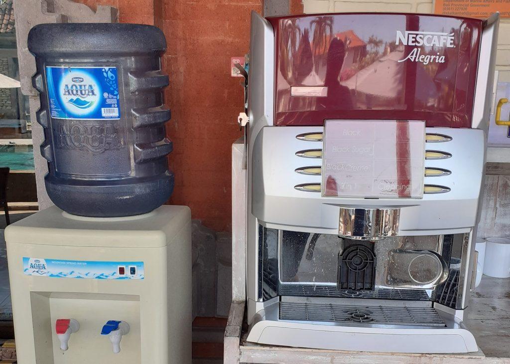 Aqua and Coffee machine - Bali Ocean
