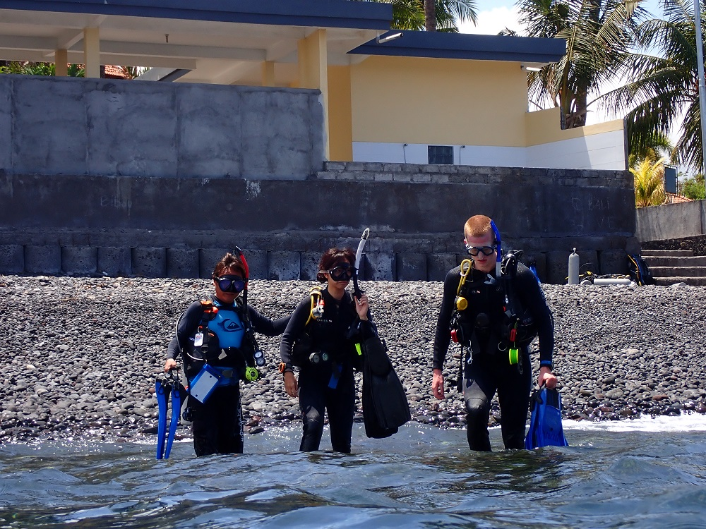 Shore entry diving