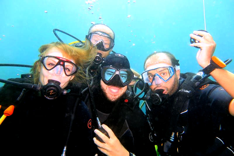 Diving Interns