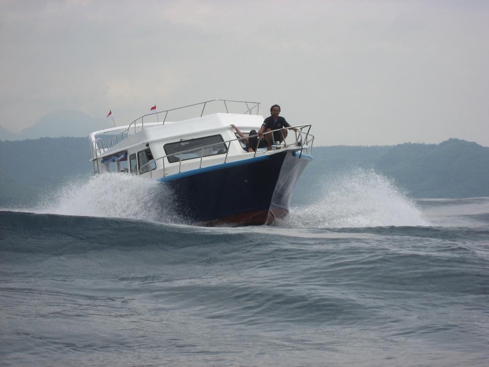 Boat to Nusa Penida Bali