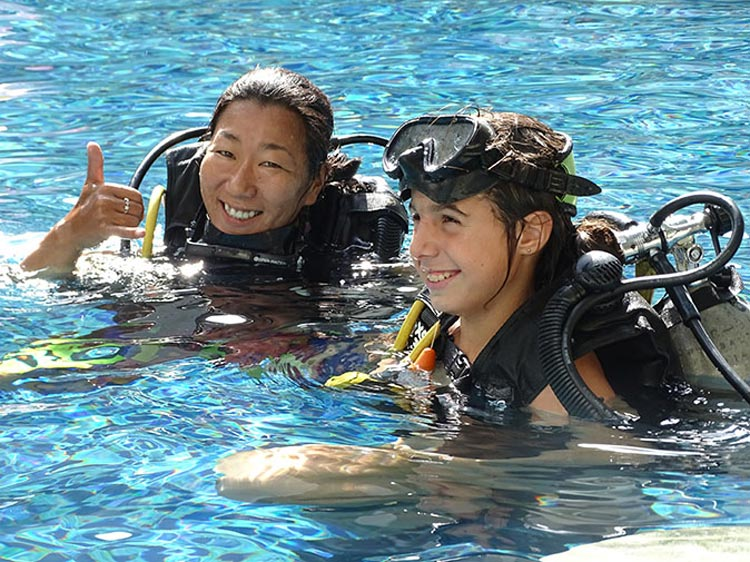 diving with children