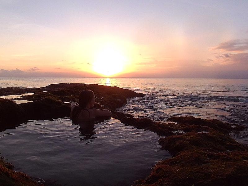 sunset at the Tengal Wangi Beach.