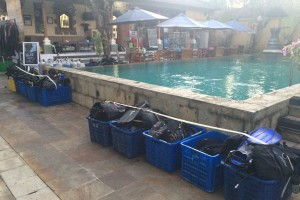 Gear by the pool