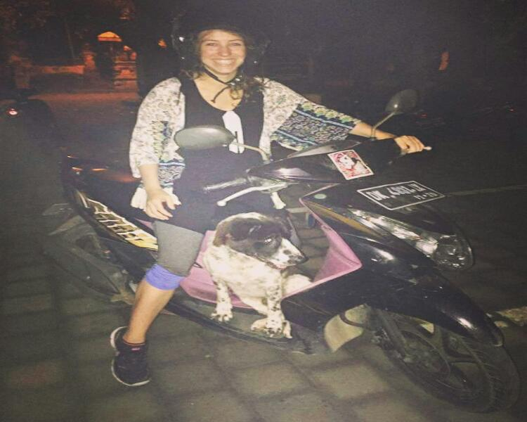 Driving a Scooter in Bali