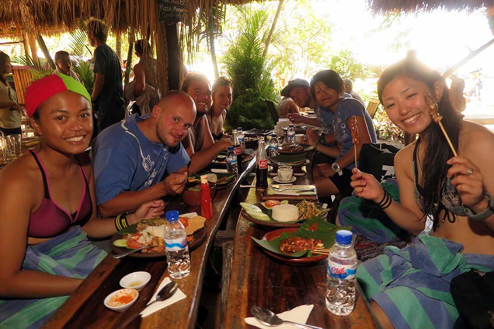 Divers Lunch Padang Bai Bali