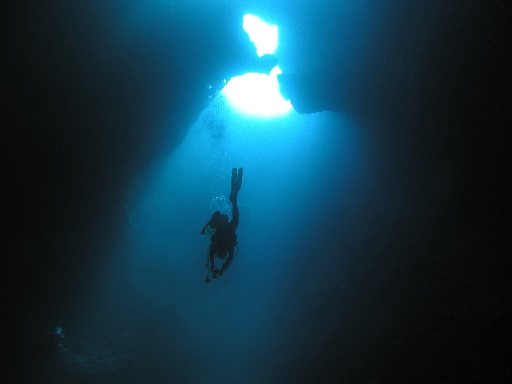 diver ascending